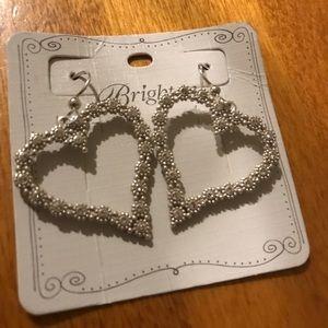 Brighton twinkle heart earrings NWT
